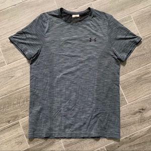 Men's Under Armor Seamless Gray Workout Shirt